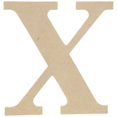 "Wood Letter X - 9 1/2"""