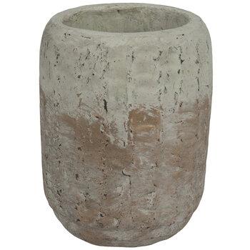 Distressed Metallic Textured Pot