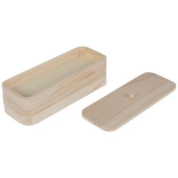 Stackable Oblong Wood Trays