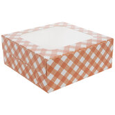 Orange & White Buffalo Check Pie Box