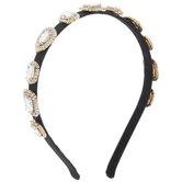 Black Square Rhinestones Headband