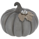 Pumpkin With Pearl Button & Leaf