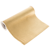 Gold Faux Leather Ribbon - 8""