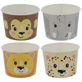 Jungle Animal Paper Snack Cups