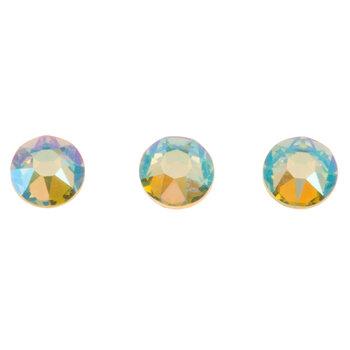 Peridot Shimmer Swarovski Xirius Flat Back Hotfix Crystals - 20ss