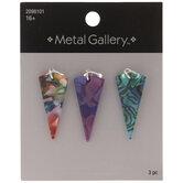 Multi-Color Marble Triangle Pendants