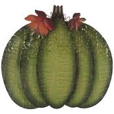 Green Pumpkin Metal Decor