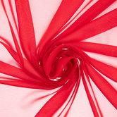 Red Poly Chiffon Fabric