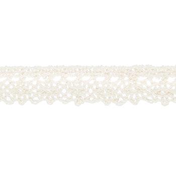 """Ivory Cotton Lace Trim - 5/8"""""""