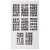 Black Franklin Alphabet Stickers