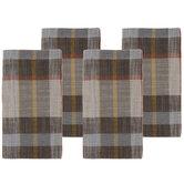 Brown & Orange Plaid Cloth Napkins