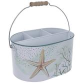 Starfish & Coral Metal Caddy