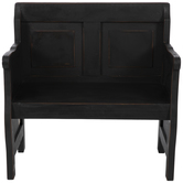 Black Two-Panel Wood Bench