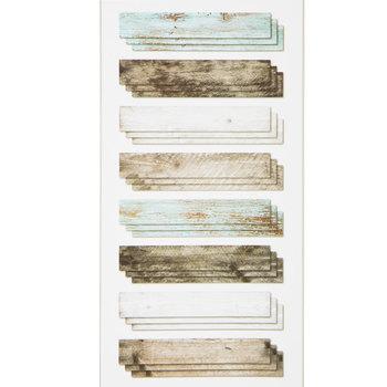 Blue & Gray Wood Panel Vinyl Wall Art