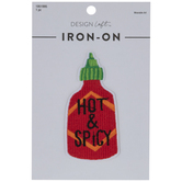 Hot & Spicy Hot Sauce Iron-On Applique
