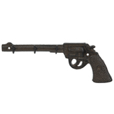 Brown Revolver Metal Wall Decor With Hooks