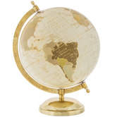 Cream & Gold Globe With Stand
