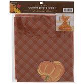 Orange Plaid Cookie Plate Bags & Tags