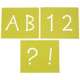 Dot Uppercase Alphabet Stencils