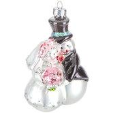 Snowman Bride & Groom Ornament