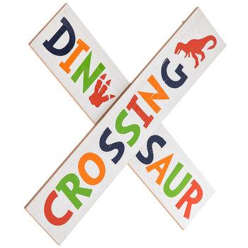 Dinosaur Crossing Wood Wall Decor