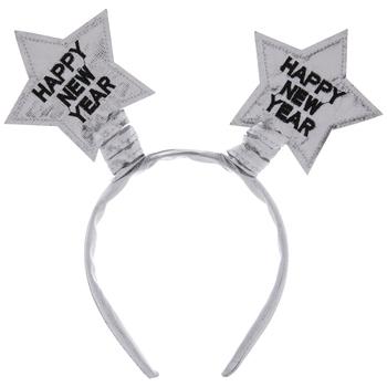 Silver Happy New Year Star Headband