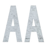 """Galvanized Metal Letters A - 4"""""""