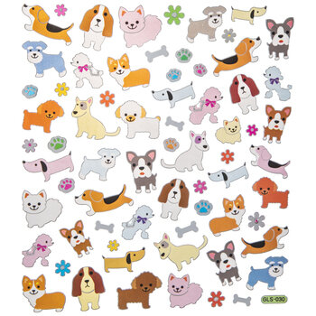 Puppy Foil Stickers