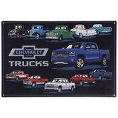 Chevrolet Trucks Metal Sign