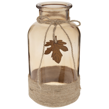 Glass Bottle With Jute