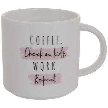 Coffee Kids Work Repeat Mug