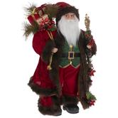 Red & Green Standing Santa