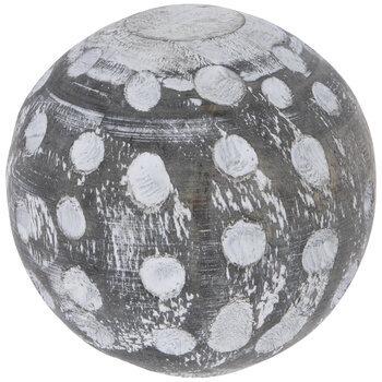 Polka Dot Wood Decorative Sphere