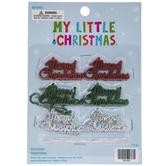 Merry Christmas Mini Ornaments