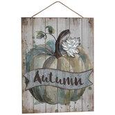 Autumn Pumpkin Wood Wall Decor