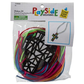 Cross Necklace Fuzzy Art Craft Kit