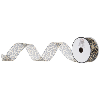 Leopard Print Wired Edge Ribbon - 1 1/2""