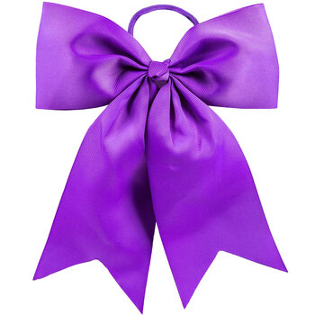 Purple Cheer Bow Hair Tie