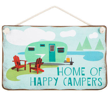 Home Of Happy Campers Wood Wall Decor
