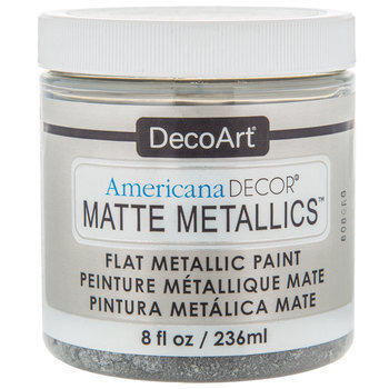Silver Americana Decor Matte Metallic Paint