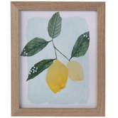 Lemon Framed Wall Decor