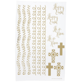 Gold Faith Egg Stickers