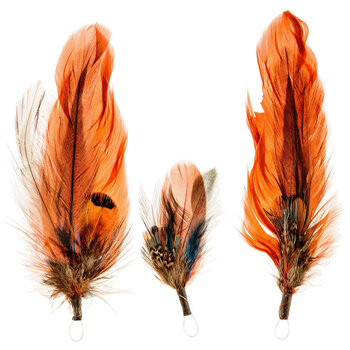 """Natural Feather Pick - 3 1/2"""""""