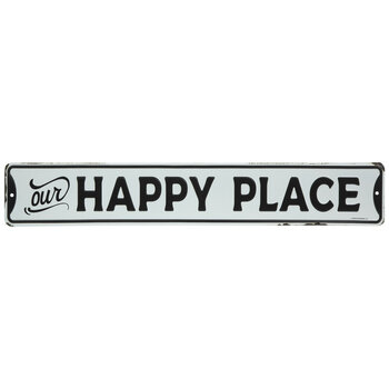 Our Happy Place Metal Sign