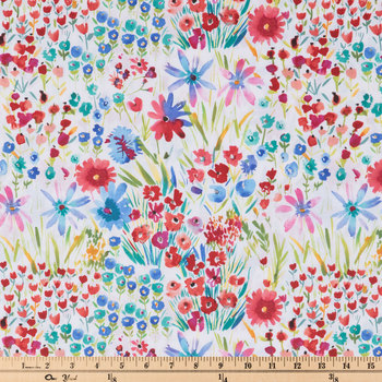 Watercolor Wildflowers Apparel Fabric