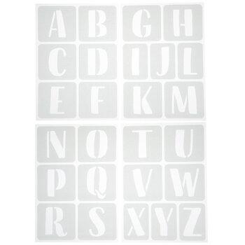Brush Alphabet Adhesive Stencils