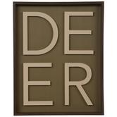 Deer Word Wood Wall Decor