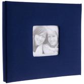 "Navy Cloth Post Bound Scrapbook Album - 8"" x 8"""