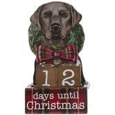 Black Labrador Christmas Countdown Decor