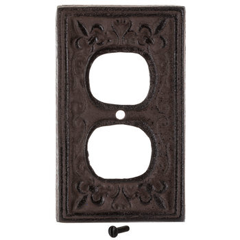 Rust Cast Iron Outlet Cover